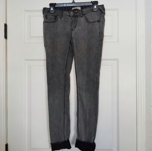 Free People gray distressed skinny jeans sz. 27
